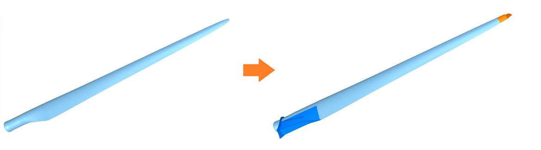 Bessere aerodynamische Verhältnisse am Rotorblatt