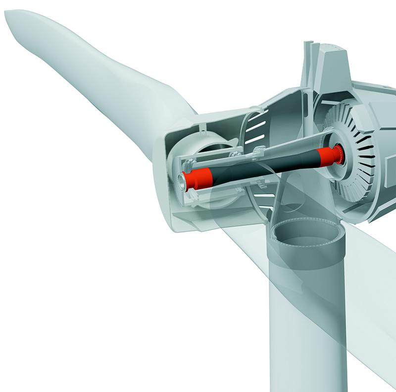 Einbauposition der Carbonwelle (Bild: © Schäfer MWN GmbH)